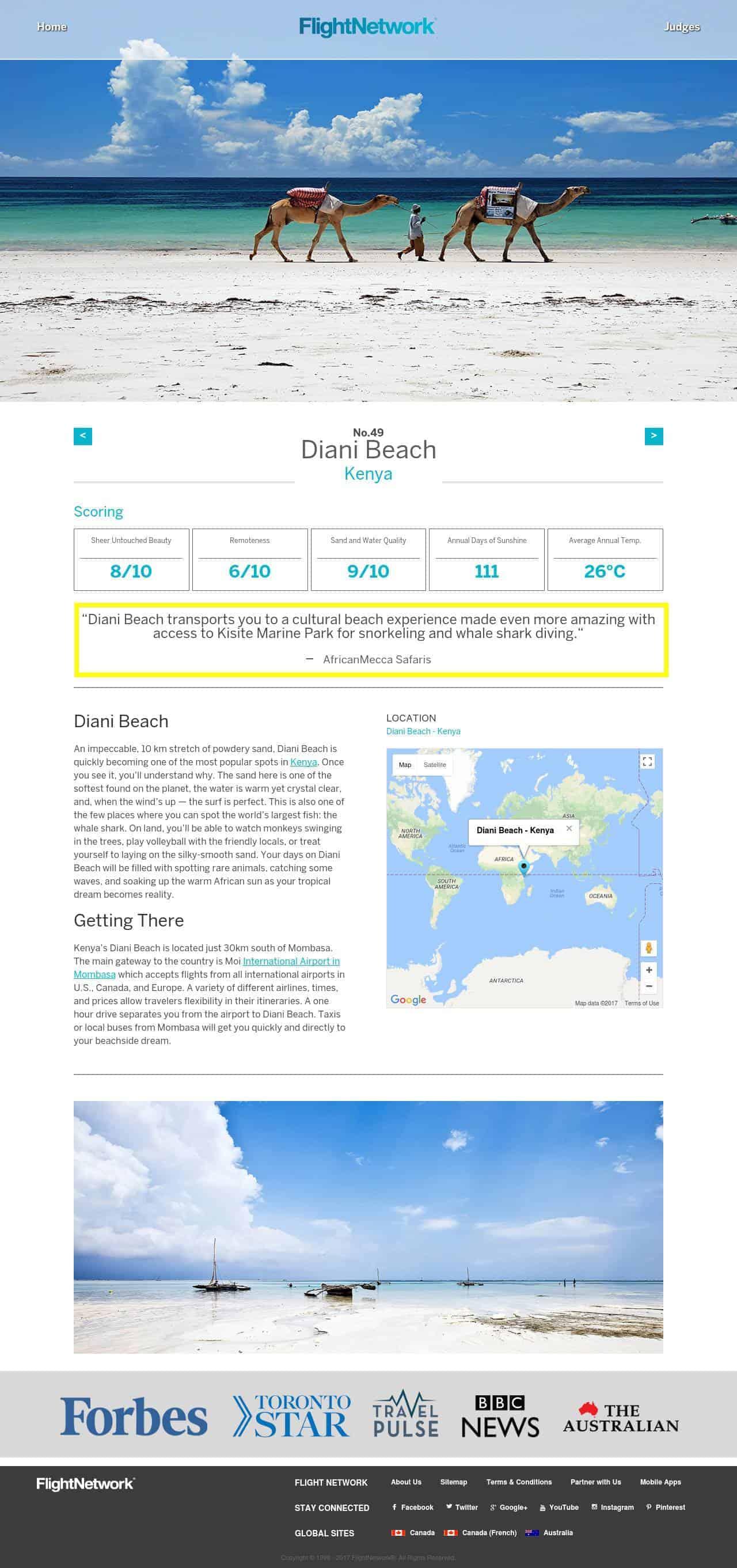 Diani Beach worlds best 50 beaches