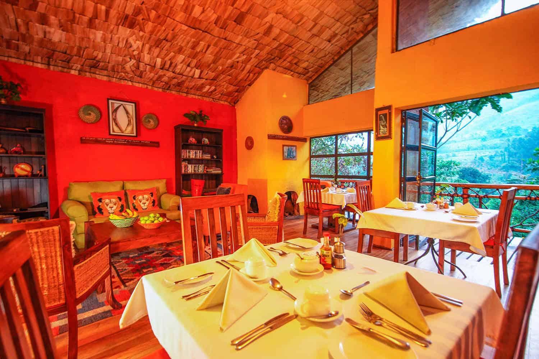 Mahogany Springs Meals Bwindi Dining