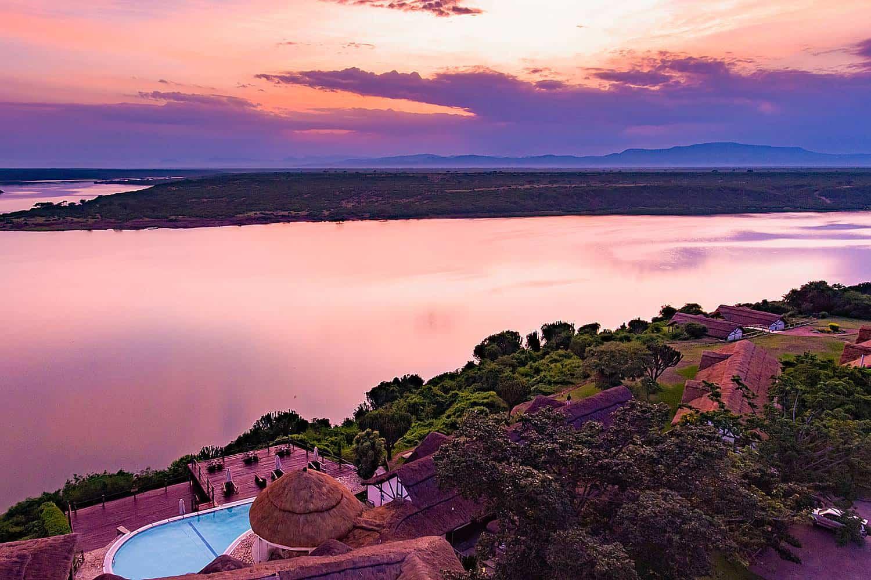 Scenic Views Of Lake Edward From Mweya Peninsula