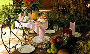 DINING AT NGORONGORO FARM HOUSE