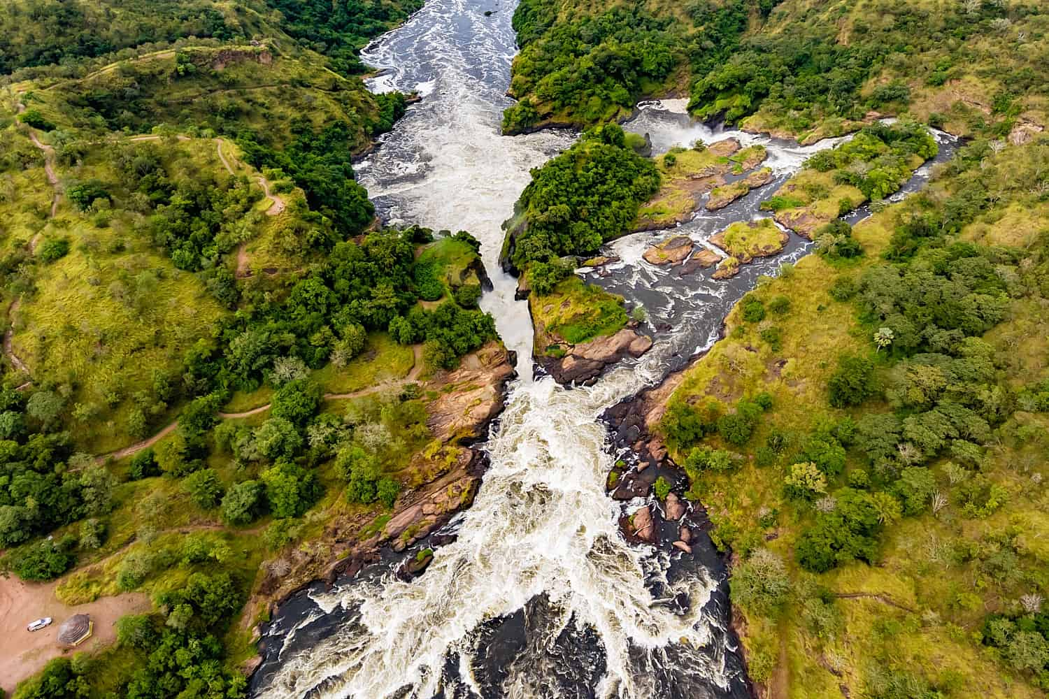 Hiking To The Top Of Murchison Falls